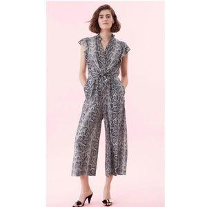 Rebecca Taylor Snakeskin Jumpsuit. Retail- $500
